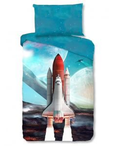 Space shuttle, raket  140x200/220 incl sloop 60x70
