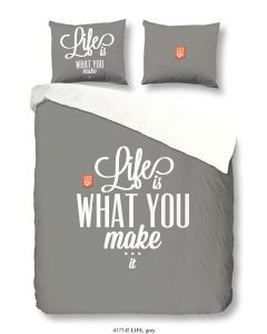 Dekbedovertrek Life is what you make it! FLANEL