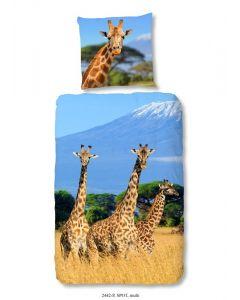 Dekbedovertrek Afrika, girafffe  140x200/220