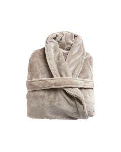 Super zachte badjas in de vlas , sable , fleecebadjas,  SPECIALE PRIJS