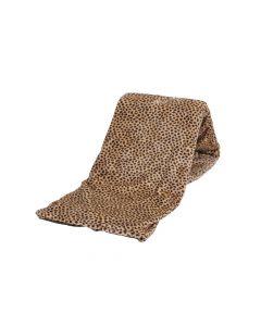 Plaid Fleece Luipaard beige bruin 150x200, Deken voor op de bank , bed of picknick kleed