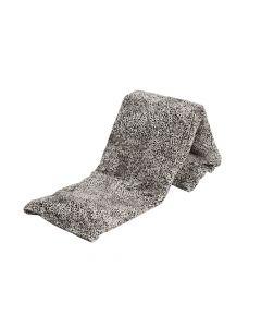 Plaid Fleece Luipaard zwart wit 150x200, Deken voor op de bank , bed of picknick kleed