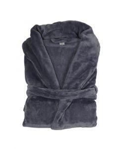 Super zachte badjas in de kleur Blauw , denim  fleecebadjas,  SPECIALE PRIJS