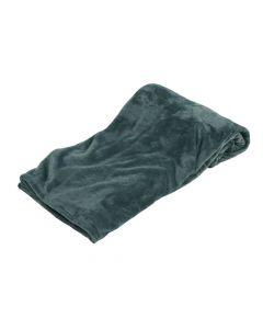 Plaid Fleece Uni cognac, warm terra 150x200, Deken voor op de bank , bed of picknick kleed