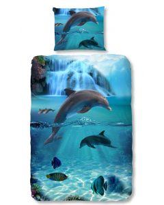 Dekbedovertrek Dolfijn, dolphins 140x200/220