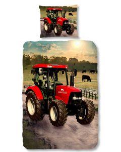 Dekbedovertrek Tractor , Trekker Rood 140x200