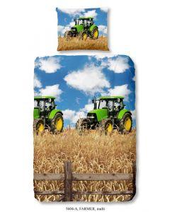 Dekbedovertrek Tractor groen John Deere  140x200/220