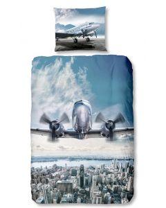 Dekbedovertrek Vliegtuig  140x200/220