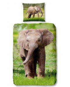 Dekbedovertrek Baby Olifantje  140x200/220