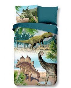 Dekbedovertrek Dino, Dinosaurus 140x200/220 incl sloop 60x70