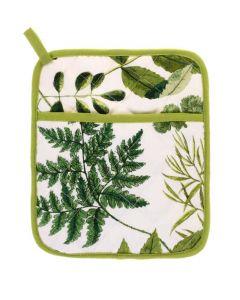 Groene planten pannenlap / ovenwant , Foliage  Ulster weavers
