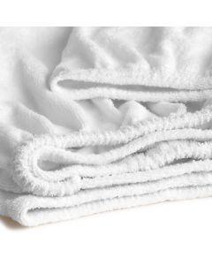 Hoeslaken Cinderella  badstof  in de kleur wit voor matrassen tot 25 cm dik
