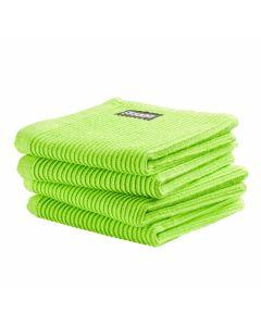 DDDDD vaatdoek 30 x 30 Uni  Lime groen per 4 stuks