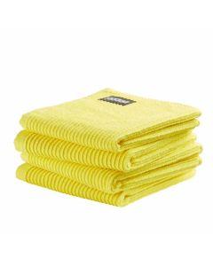 DDDDD vaatdoek 30 x 30 Uni  fel geel  per 4 stuks