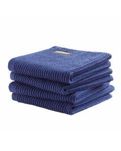 DDDDD vaatdoek 30 x 30 Uni Donker blauw  per 4 stuks