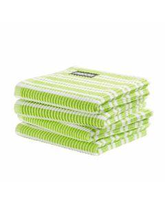 DDDDD vaatdoek 30 x 30 Gestreept Lime groen per 4 stuks