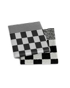 Keukendoek en theedoek Barbeque kleur zwart DDDDD per 6 sets
