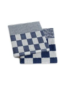 Keukendoek en theedoek Barbeque kleur blauw  DDDDD per 6 sets