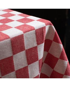 Pompdoek, geblokt Tafelkleed Barbeque 140x240  Rood DDDDD