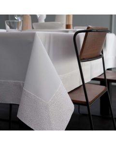 Tafelkleed Corallo, damast katoen, kleur wit  ,DDDDD, tafellaken