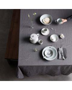 Tafelkleed Cabin, 100% linnen, kleur grijs ,DDDDD, tafellaken