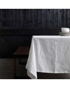 Tafelkleed Cabin, 100% linnen, kleur wit ,DDDDD, tafellaken