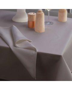 Tafelkleed Latus, damast katoen, kleur taupe ,DDDDD, tafellaken
