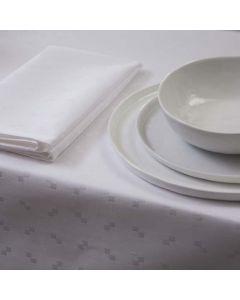 Tafelkleed Quadrat, damast katoen, kleur wit ,DDDDD, tafellaken