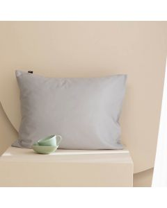 Damai kussenslopen organic satijn kleur (94) light grey (per paar) licht grijs