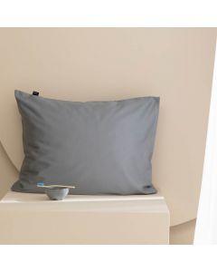 Damai kussenslopen organic satijn kleur (95) grey (per paar) grijs