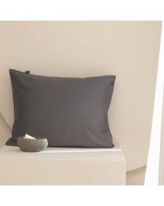 Damai kussenslopen organic satijn kleur (96) anthracite (per paar) donker grijs
