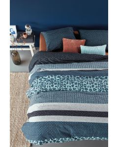 Gino blauw dekbedovertrek , 100% Katoen flanel, Bedding house