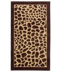 Strandlaken Giraffe huid  100x180 100% katoen  velours