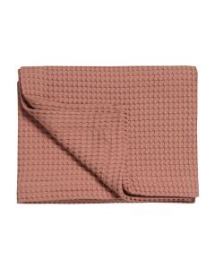 Wafeldeken  Warm rose , Brick dust, 100%  katoen zomerdeken, plaid sprei