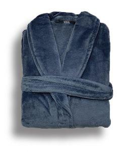 Super zachte badjas in de kleur pertrol blauw  fleecebadjas,  SPECIALE PRIJS