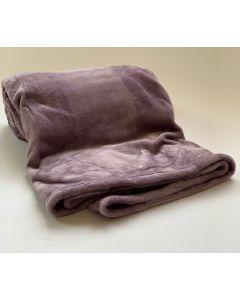 Plaid Fleece Uni lavendel paars 150x200, Deken voor op de bank , bed of picknick kleed