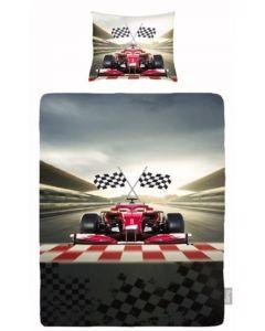 Dekbedovertrek  Formule 1 ferrari F1 140x200/220 en sloop 60x70