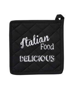 Italian food Pannenlap teksten zwart DDDDD
