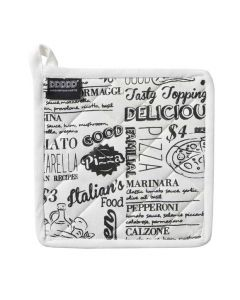Italian food Pannenlap teksten wit DDDDD