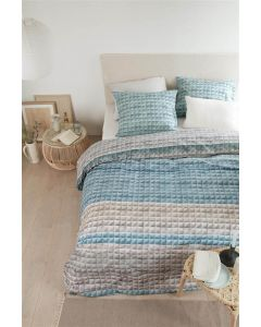 Quilted squares blauw