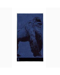 Seahorse strandlaken katoen Gorilla blauw 100x180 cm