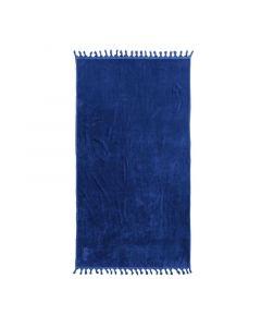 Uni Strandlaken Hamam Lush Kobalt blauw 100x180 100% katoen