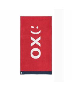 Seahorse strandlaken katoen XO rood 100x180 cm