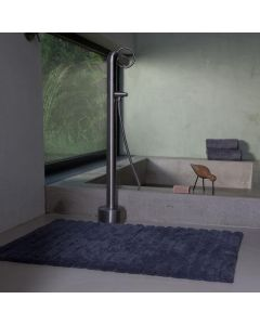 Seahorse  badmat  Board . streep, Grafiet grijs  zware kwaliteit 100% katoen