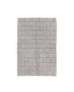 Seahorse  badmat Metro, blok,   licht grijs  zware kwaliteit 100% katoen