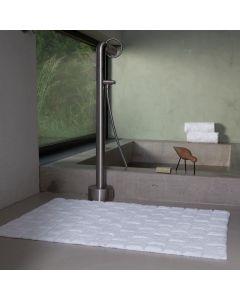 Seahorse  badmat  Metro, blok,   wit  zware kwaliteit 100% katoen
