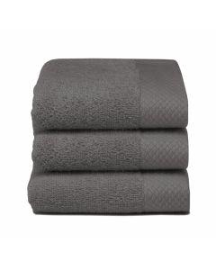 Seahorse Badgoed Pure donker grijs, graphit   zachte badstof, diverse maten, 100% katoen gastendoekje 30x50
