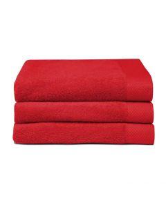 Seahorse Badgoed Pure red, rood  zachte badstof, baddoek 60x110, 100% katoen
