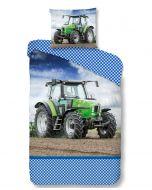 Dekbedovertrek Groene Tractor  Deutz, massey ferguson en case   140x200/220