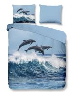 Dekbedovertrek Dolfijn, delphin 140x200/220